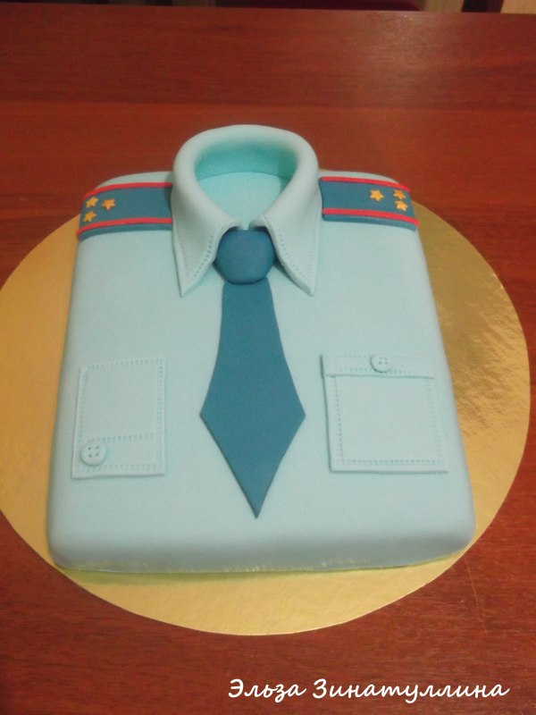 Мастер класс торт рубашка из мастики с фото